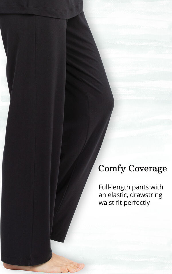 Comfy Coverage - full-length pants with an elastic-drawstring waist fit perfectly image number 4