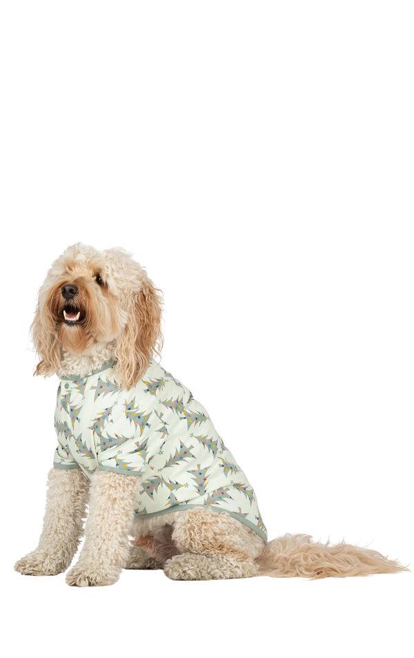 Model wearing Green Pine Tree PJ - Pet image number 0