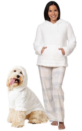Winter Wonderland Sherpa Hoodie Matching Pet & Owner PJs