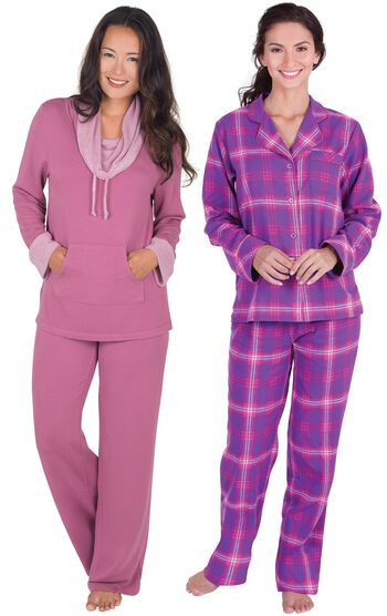 Raspberry World's Softest Pajamas & Raspberry Plaid Flannel PJs