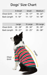 """Dog Sizes XS (Chest Girth 11-13""""/Back Length 9-10""""), SM (Chest Girth 14-17""""/Back Length 11-13""""), MD (Chest Girth 18-22""""/Back Length 14-18""""), LG (Chest 23-28""""/Back Length 19-21""""), XL (Chest 29-34""""/Back Length 22-25""""), XL (Chest 35-39""""/Back Length 26-28"""") image number 3"""