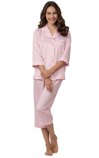 Dreamy Satin Capri Pajamas
