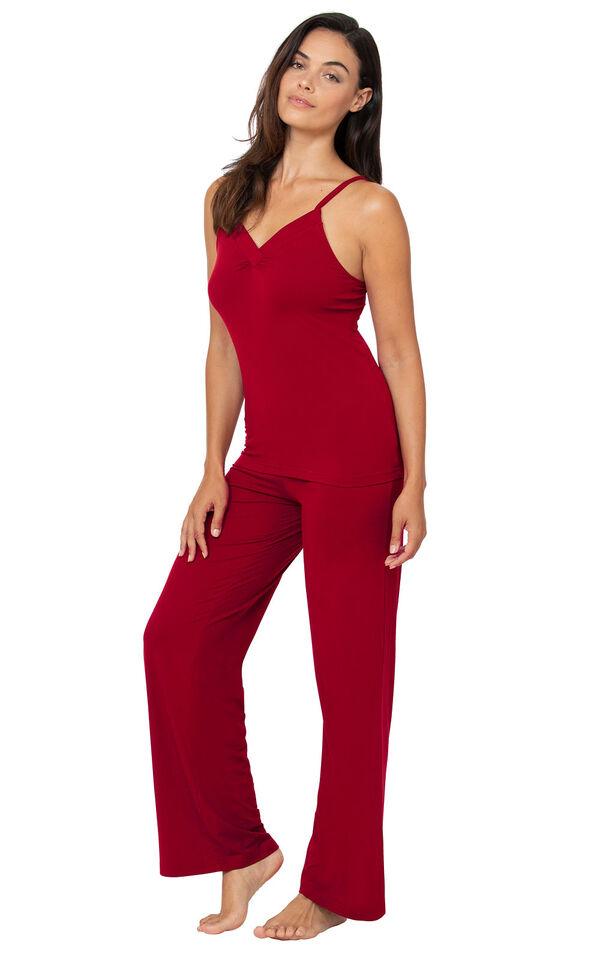 Naturally Nude Cami Pajamas - Red image number 0