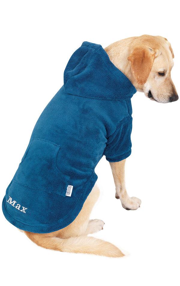 Model wearing Hoodie-Footie - Blue Fleece - Pet image number 0