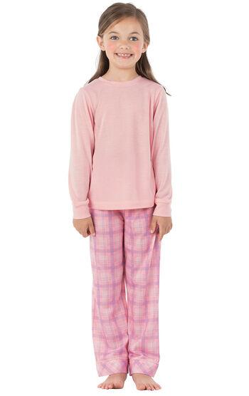 Long Sleeve Girls Pajamas - Pink Plaid
