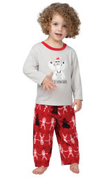Model wearing Red Star Wars PJ for Toddlers image number 0