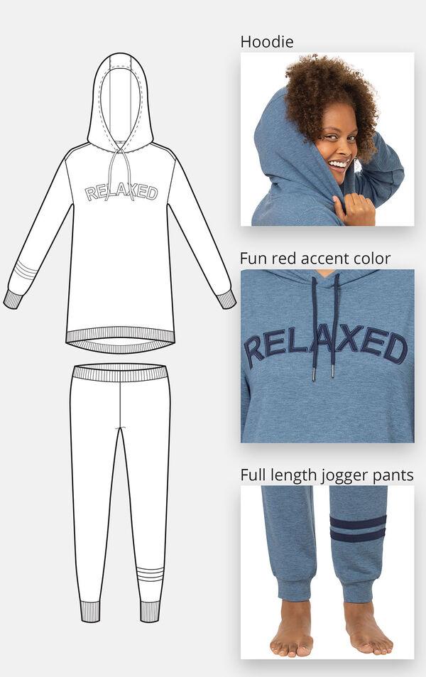 """Relaxed"" Hoodie Pajamas image number 2"