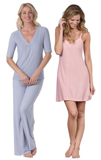 Blue Naturally Nude PJs & Pink Naturally Nude Chemise