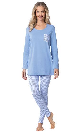 Addison Meadow|PajamaGram Long Sleeve Legging Set - Gingham