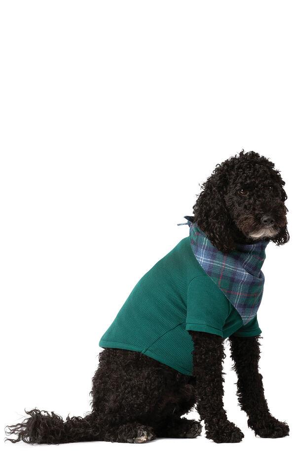 Model wearing Green Thermal PJ - Pet image number 0
