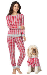 Peppermint Twist Matching Pet & Owner PJs image number 0