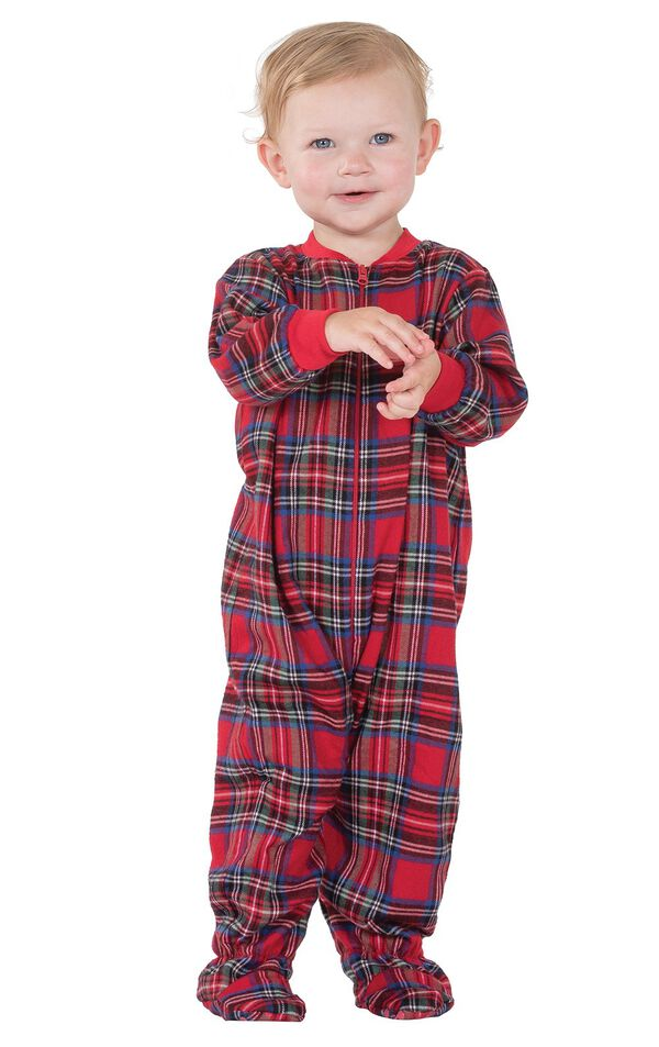 Model wearing Red Classic Plaid Onesie for Infants image number 0