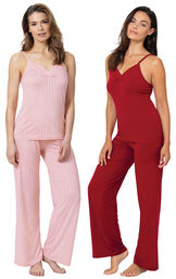 Pink and Red Naturally Nude Cami PJs Gift Set image number 0