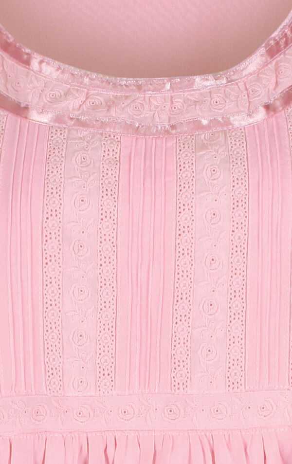Model wearing Helena Nightgown in Pink for Women image number 4