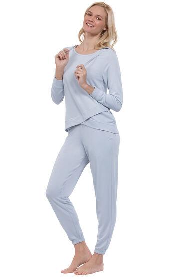 Addison Meadow PajamaGram Hoodie PJs - Periwinkle
