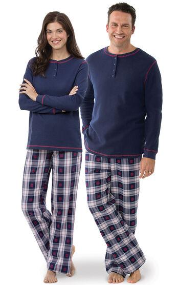 Snowfall Plaid His & Hers Matching Pajamas