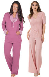 Raspberry World's Softest PJs and Pink Naturally Nude PJs image number 0