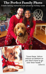The Perfect Family Photo - Create lasting memories and amazon holiday cards. Customer Quote: Love these. Velcro closure on bottom so you don't have to go over their heads. - JoAnn D. image number 1