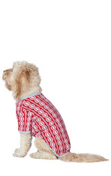 Dog wearing Peppermint Twist Pajamas, facing to the side image number 1