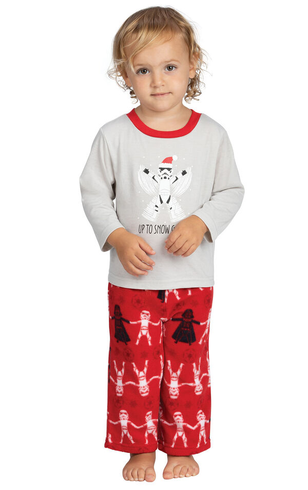 Model wearing Red Star Wars PJ for Infants image number 0
