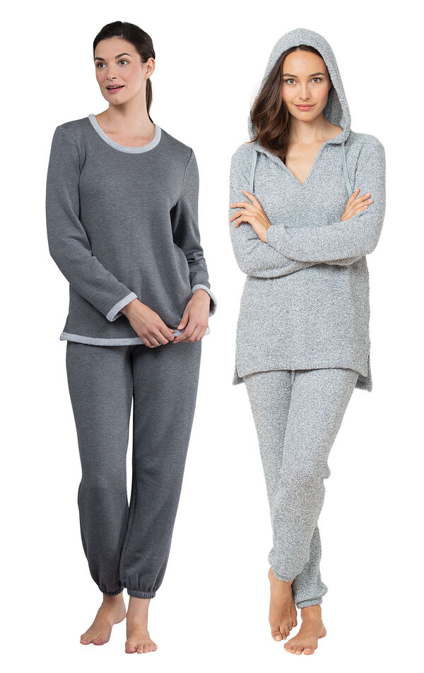 Blue Cozy Escape PJs and Charcoal World's Softest Jogger PJs image number 0