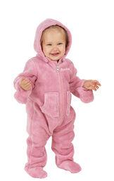 Model wearing Hoodie-Footie - Pink Fleece for Infants image number 0