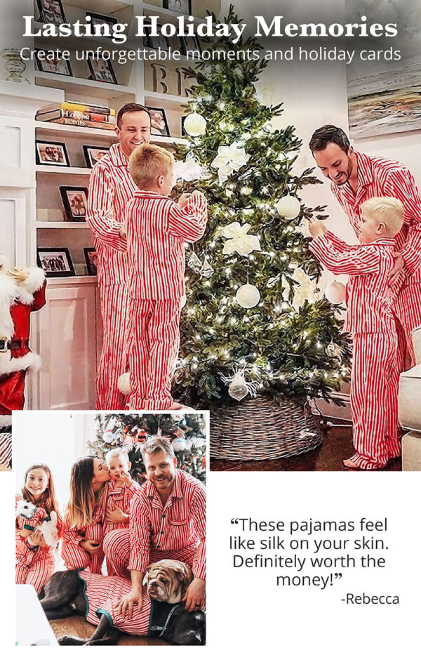 Candy Cane Fleece Matching Family Pajamas image number 2