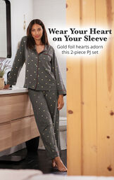 Heart of Gold Boyfriend Pajamas image number 2