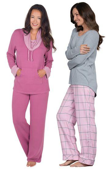 Pink World's Softest Flannel Pajama Set & Raspberry World's Softest Pajamas