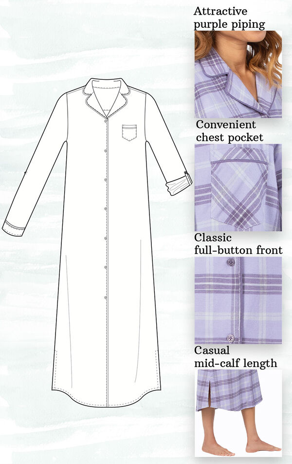Addison Meadow Frosted Flannel Nightgown image number 2