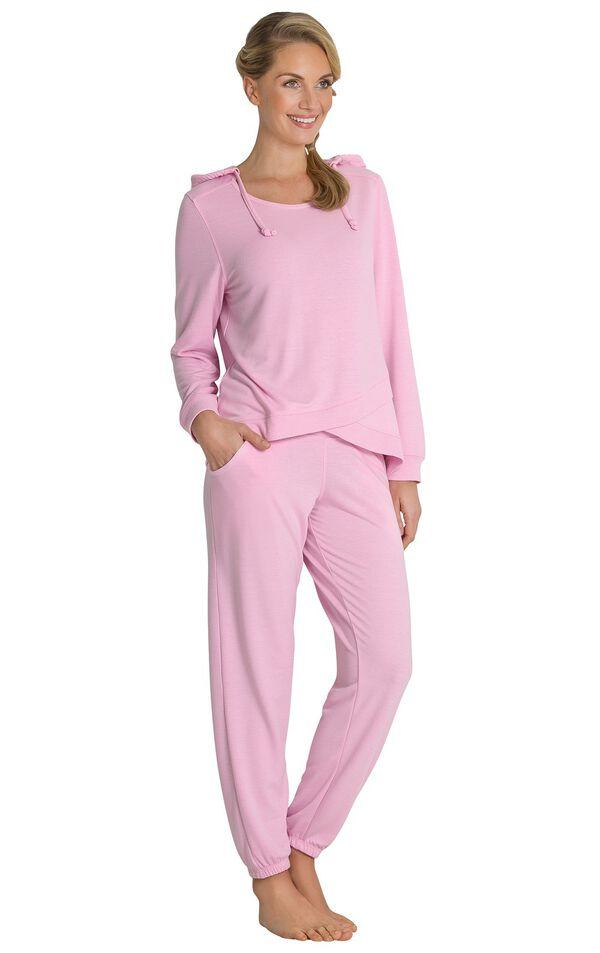 Light Pink Hoodie PJ for Women image number 0