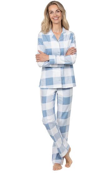Addison Meadow|PajamaGram Slim Fit Boyfriend PJs - Blue Buffalo