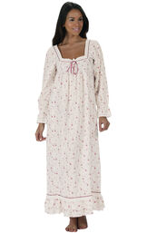 Model wearing Martha Nightgown in Vintage Rose for Women image number 0