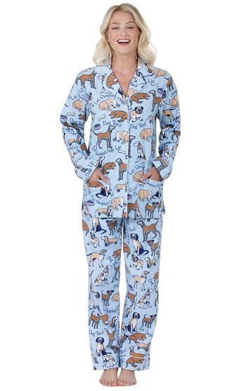 Dog Tired Boyfriend Flannel Pajamas