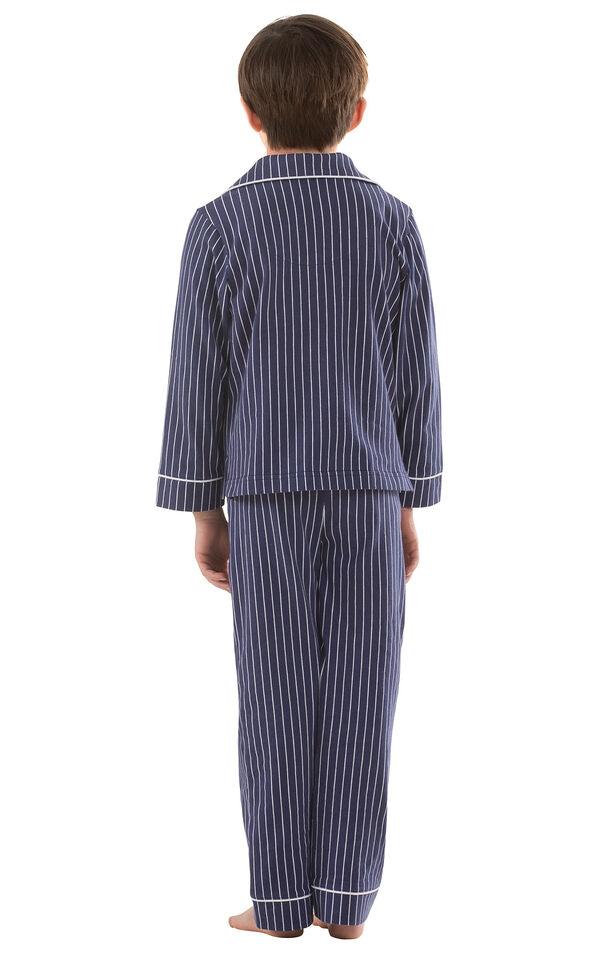 Classic Stripe Boys Pajamas - Navy image number 1