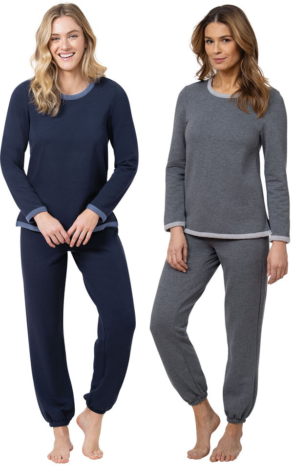 Navy and Charcoal World's Softest Jogger PJs image number 0