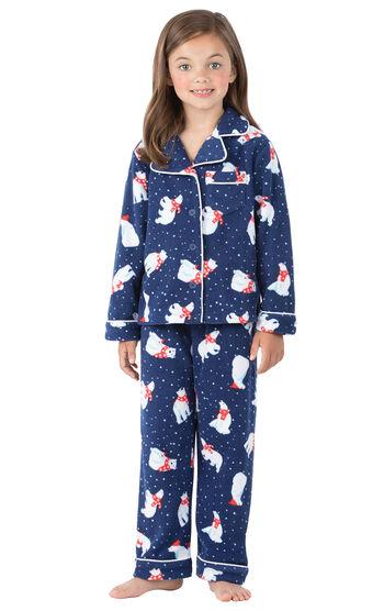 Polar Bear Fleece Girls Pajamas