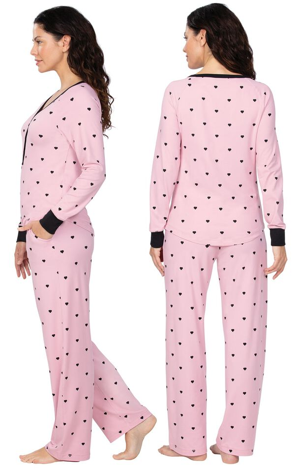 Addison Meadow Whisper Knit Pajamas Henley PJs image number 1
