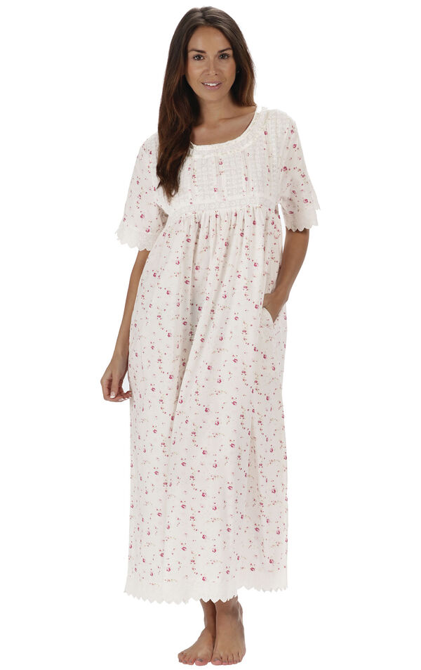 Model wearing Helena Nightgown in Vintage Rose for Women image number 0