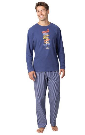 Margaritaville® Easy Island Men's Pajamas - Navy