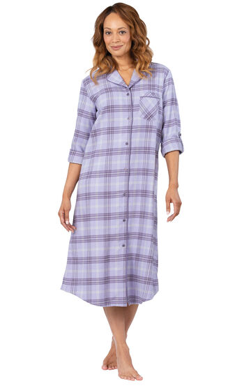 Addison Meadow|PajamaGram Frosted Flannel Nightgown - Lavender