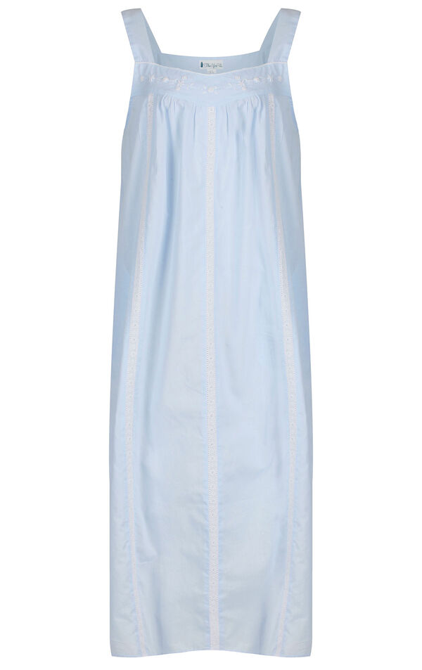 Model wearing Meghan Nightgown in Blue for Women image number 2