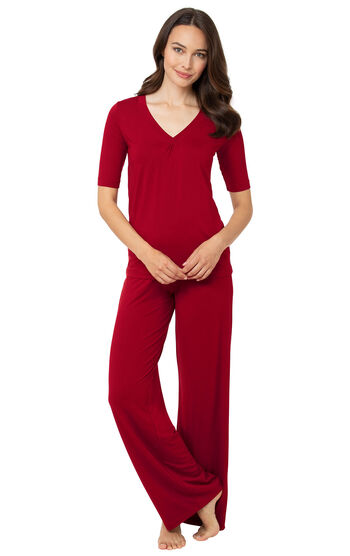 Naturally Nude Pajamas - Red