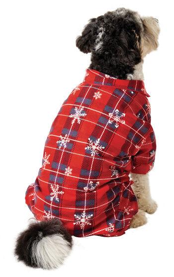 Americana Plaid Snowflake Dog Pajamas