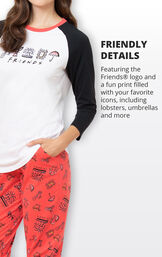 Featuring the Friends logo and a fun print filled with your favorite icons, including lobsters, umbrellas and more image number 3