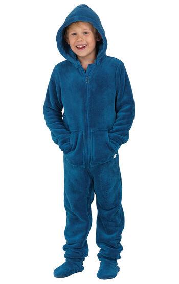 Hoodie-Footie™ for Boys - Blue