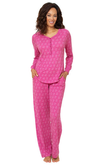 Addison Meadow|PajamaGram Whisper Knit Pajamas Henley PJs - Floral