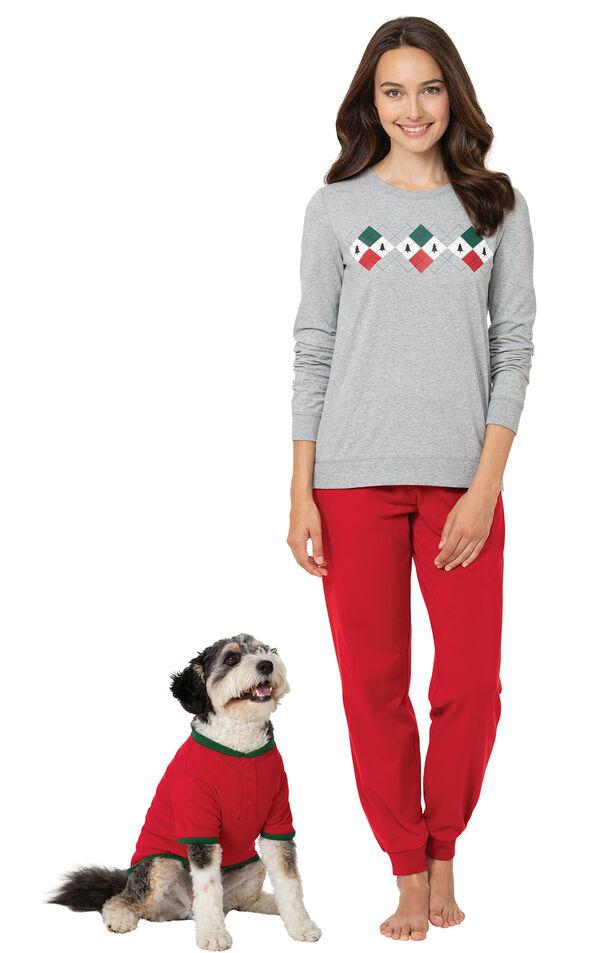 Holiday Argyle Matching Pet & Owner PJs image number 0