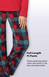 Yuletide Plaid Matching Family Pajamas image number 3
