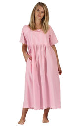 Model wearing Helena Nightgown in Pink for Women image number 0